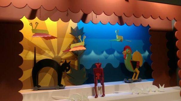 """La ricostruzione  del """"Teatro delle marionette"""" di Fortunato Depero (1918)"""