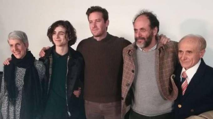 CAST Applausi fragorosi  per il cast  e il regista  Luca Gudagnino mentre le giovanissime erano rapite dalla bellezza di Timothée Chalamet