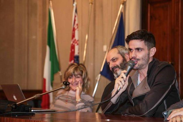 Lorenzo Baglioni all'Università (foto Giuseppe Cabras/New Pressphoto)