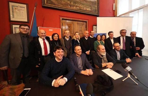 La candidatura di Minniti nella sala Rossa del Comune a Pesaro (Fotoprint)