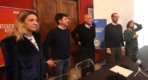 Da sinistra Camilla Fabbri, Gostoli, Minniti, Ricci e la Morani (Fotoprint)