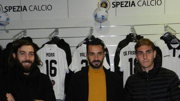 I tre neo acquisti Mora, Palladino e De Francesco allo Spezia Store