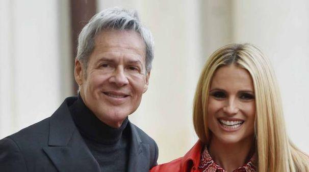 Claudio Baglioni con Michelle Hunziker (LaPresse)