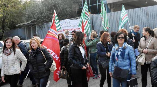 Una delle ultime proteste delle lavoratrici della Canali