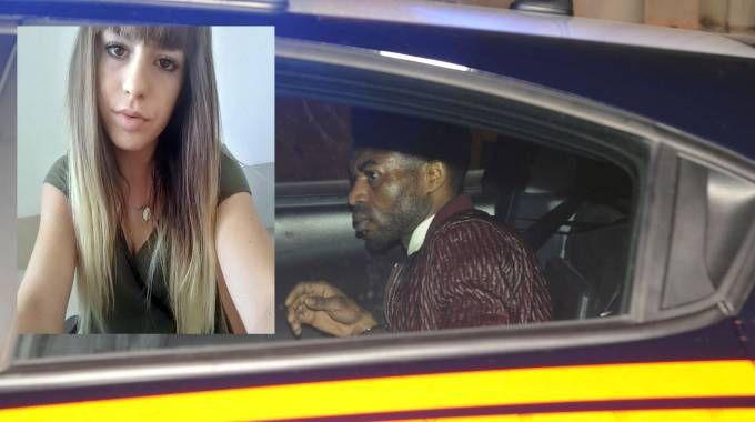 Innocent Oseghale e nel riquadro la sua vittima Pamela Mastropietro