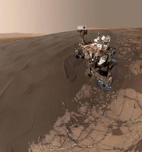 Il 'selfie' della sonda curiosity (Sito ufficiale Nasa)