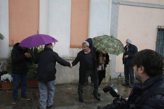 Tanti ex calciatori presenti alla commemorazione funebre (foto Ravaglia)