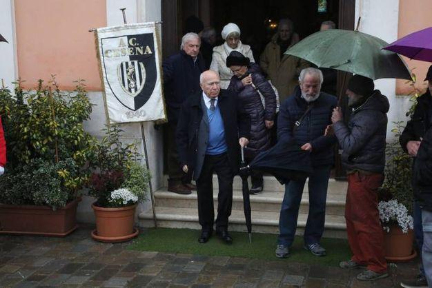 Il gonfalone del Cesena calcio (foto Ravaglia)