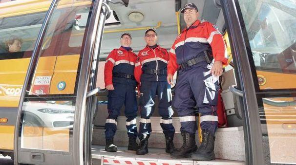 Alcuni esponenti dell'Associazione nazionale carabinieri (Acerboni/FotoCastellani)