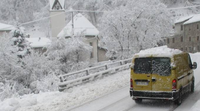 Abbondante la nevicata ad Acquabuona di Collagna