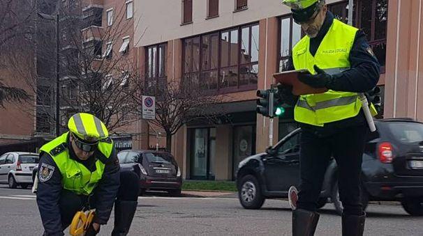 Gli agenti di polizia locale