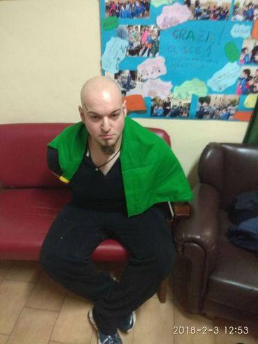 Luca Traini dopo l'arresto