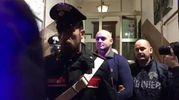 Un momento dell'arresto di Luca Traini (Ansa)