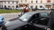 L'auto del presunto responsabile degli spari