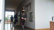 I carabinieri nell'abitazione di Traini
