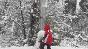 Un pupazzo di neve a  Bazzano (foto di Federica Sangiorgi)