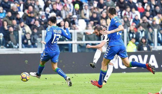 Finisce 7-0 a Torino tra Juventus e Sassuolo (foto Ansa)