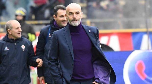 Bologna-Fiorentina, l'allenatore viola Stefano Pioli