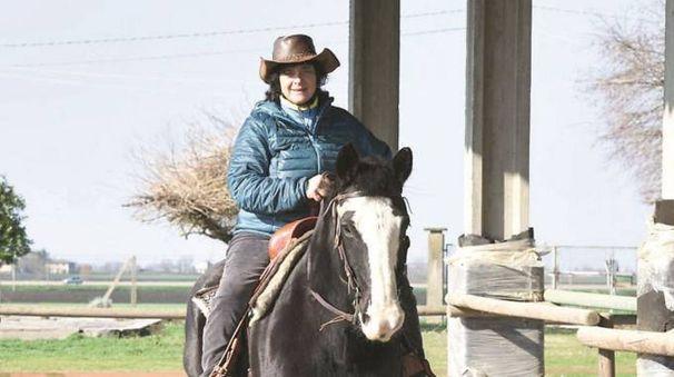 Lorenza Gallo a cavallo