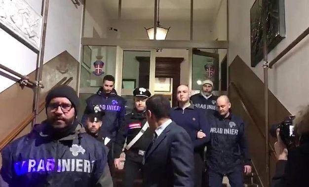 Traini è stato portato nel carcere di Montacuto, ad Ancona (Ansa)