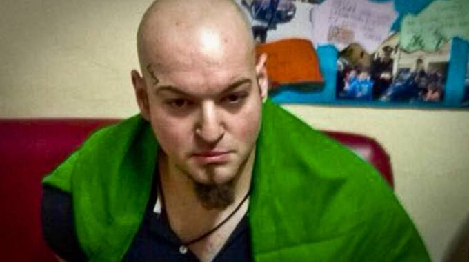 Luca Traini subito dopo l'arresto