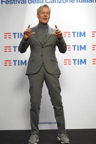 Claudio Baglioni al photocall (Ansa)