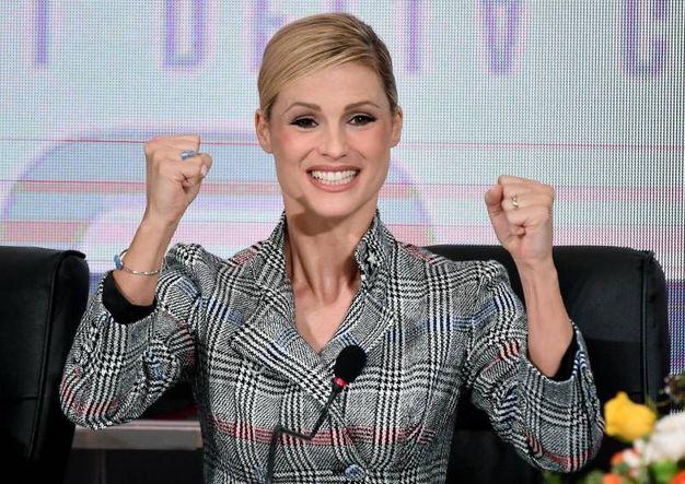 L'entusiasmo di Michelle Hunziker (Ansa)