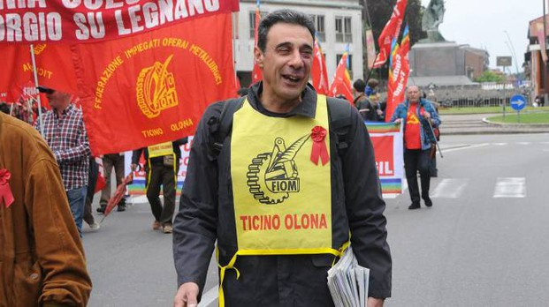 Renato Esmeraldi della Fiom Cgil Ticino Olona