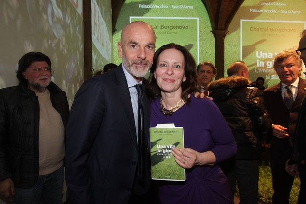 Chantal Borgonovo e Stefano Pioli (Foto Germogli)