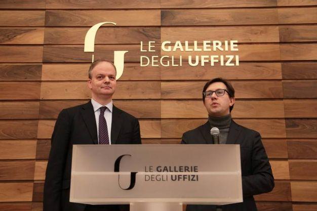 Uffizi presentazione auditorium Vasari e nuove sale espositive. Con Eike Schmidt e Dario Nardella Giuseppe Cabras/New Pressphoto