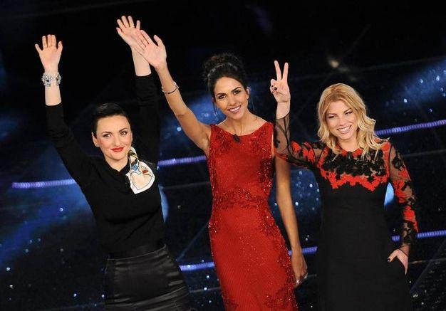 Arisa, Rocio Muñoz Morales e Emma Marrone, Sanremo 2015 (Ansa)
