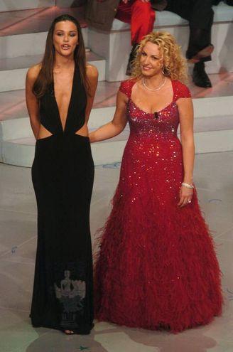 Federica Felini e Antonella Clerici, Sanremo 2005 (Lapresse)