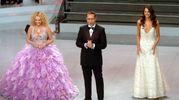 Antonella Clerici, Paolo Bonolis e Federica Felini, Sanremo 2003 (Lapresse)