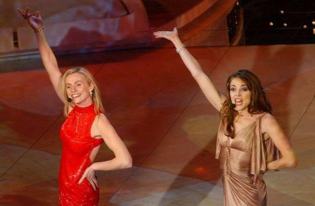 Serena Autieri e Claudia Gerini, Sanremo 2003 (Lapresse)