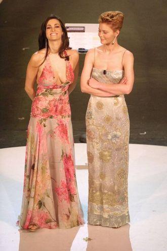 Manuela Arcuri e Vittoria Belvedere, Sanremo 2002 (Lapresse)