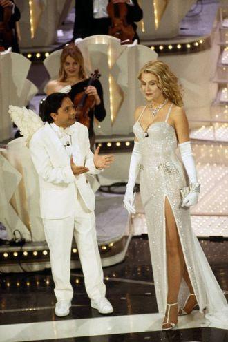 Valeria Marini e Piero Chiambretti, Sanremo 1997 (Lapresse)