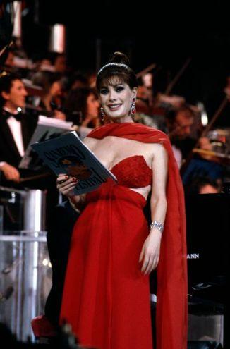 Edwige Fenech, Sanremo 1991 (Lapresse)