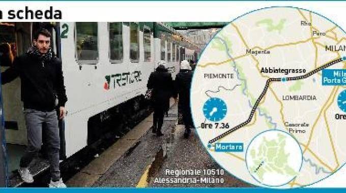 IL CASO Un regionale soppresso, folla sul treno ad Abbiategrasso (Sally)