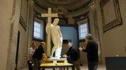 Il 'Cristo Giustiniani', grande scultura di Michelangelo (Foto Frasca/Fantini)