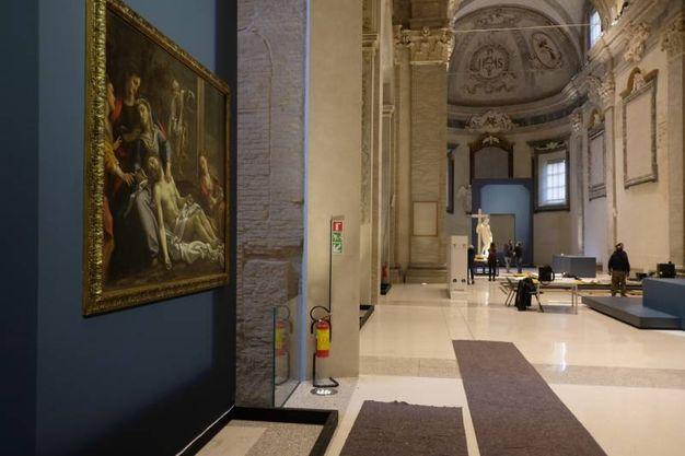 I lavori di allestimento (Foto Frasca/Fantini)