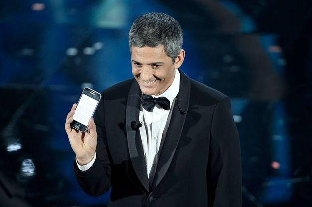 Sanremo 2018, Fiorello sul palco (foto Lapresse)