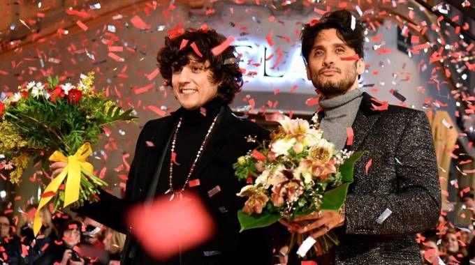 Sanremo, Ermal Meta and Fabrizio Moro. Dopo la polemica, restano in gara (Ansa)