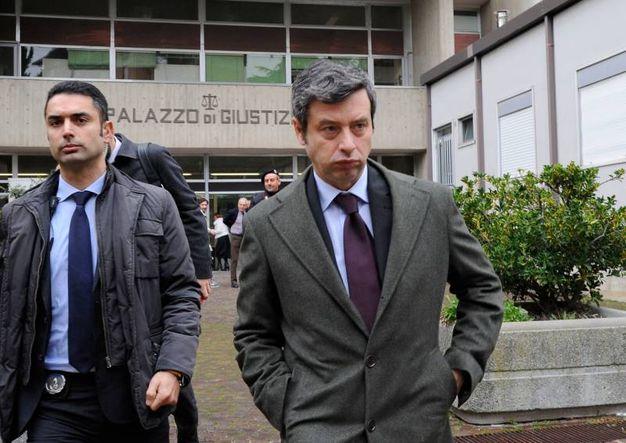 Il ministro della Giustizia Andrea Orlando in Procura (Foto Calavita)