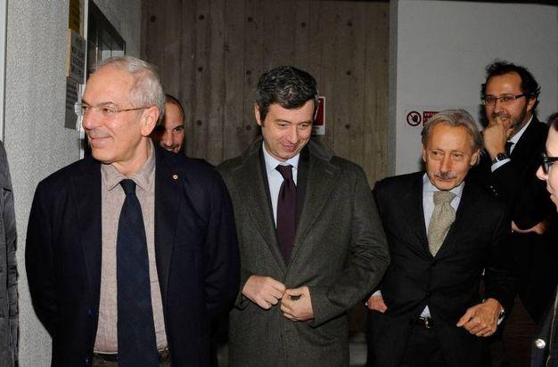 Il ministro Orlando con il procuratore Giovanni Giorgio (Foto Calavita)