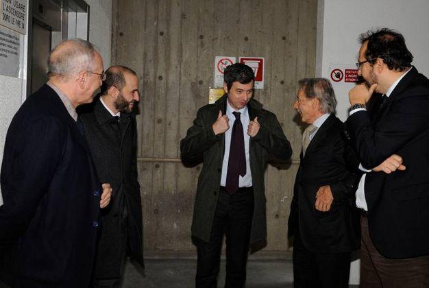 Il ministro Orlando in tribunale a Macerata (Foto Calavita)