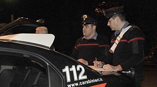 L'intervento dei carabinieri