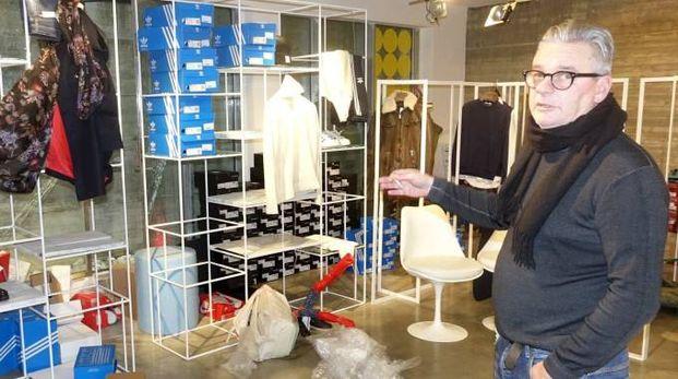 Viareggio, furto nel negozio di Massimo Rebecchi