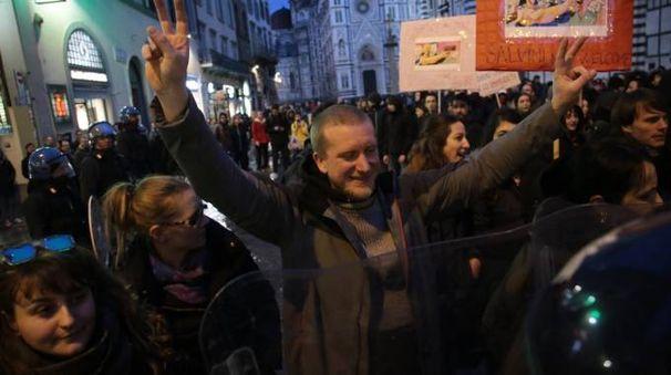 Manifestazione contro Matteo Salvini