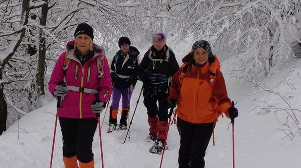 Le appassionate dell'Associazione Mangiatrekking sulle pendici delle nostre montagne