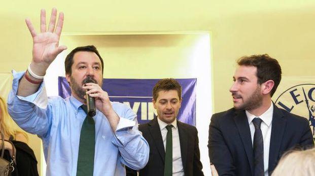 Matteo Salvini con Giacomo Ghilardi